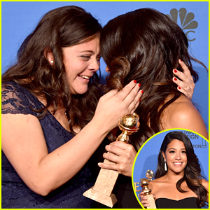 Gina Rodriguez Shares Teary Moment With Sister Ivelisse After Golden Globe Win