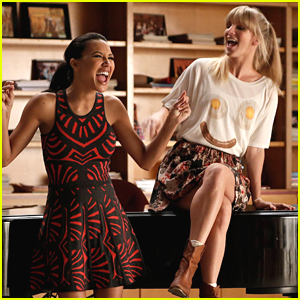 Santana & Brittany Are Definitely Leveling Up In Their Relationship on 'Glee'