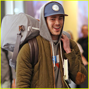 Grant Gustin Returns to Vancouver for Post-Holiday 'Flash' Filming