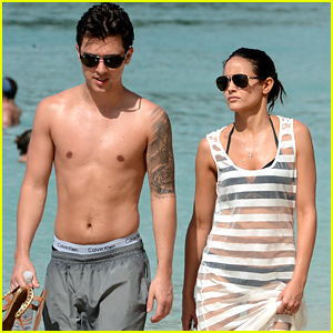 Union J's JJ Hamblett & Caterina Lopez Enjoy Beachside Stroll in Barbados