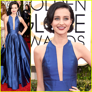 Julia Goldani Telles Makes A Grand Entrance at Golden Globes 2015