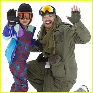 Kellan Lutz Teaches Kids How To Snowboard at Sundance