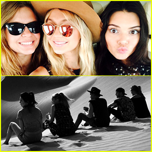 Kendall Jenner, Gigi Hadid, & Cody Simpson Take in the Sights of the Abu Dhabi Desert