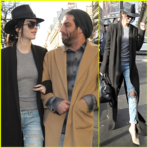 Kendall Jenner Makes Stylish Arrival In Paris For Fashion Week