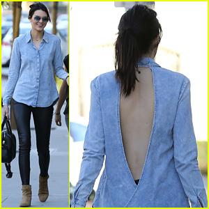 Kendall Jenner Looks So Fashion Forward In Her Backless Denim Shirt
