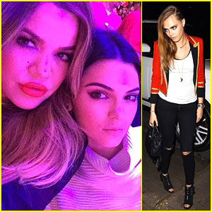 Kendall Jenner & Cara Delevingne Get Silly at the Lakers' Game!