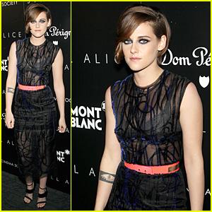 Kristen Stewart Shows Off Bra in Sheer Dress at 'Still Alice' Screening!