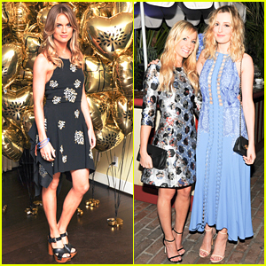 Cressida Bonas & Laura Carmichael Celebrate The Golden Globes With Mulberry