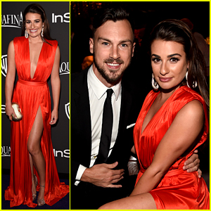 Lea Michele & Matthew Paetz Were a Red Hot Couple at InStyle's Golden Globes Party!