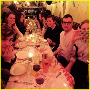Mae Whitman & Miles Heizer Ring in the New Year with Lena Dunham!