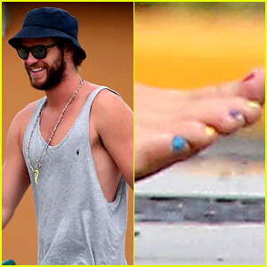 Liam Hemsworth's Colorful Toenails Win the Day