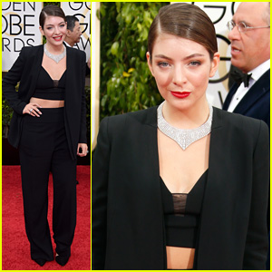 Lorde Bares Some Midriff at Golden Globes 2015