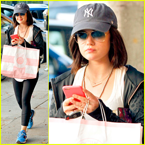 Lucy Hale Goes Beauty Shopping Before New 'Pretty Little Liars' Episode