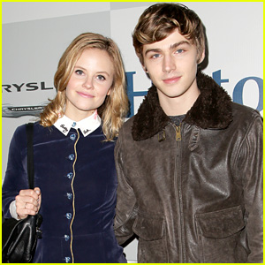 Parenthood's Miles Heizer & Sarah Ramos Buddy Up for NBC's Golden Globes Bash!