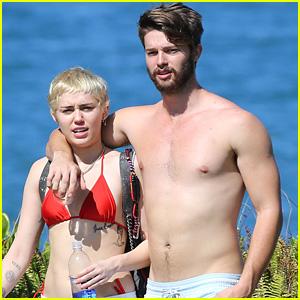 Miley Cyrus Rocks Red Bikini While Vacationing with Shirtless Patrick Schwarzenegger in Hawaii