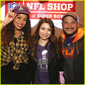 Miranda Cosgrove & Jordin Sparks Kick Off SuperBowl Festivities at NFL Shop Grand Opening