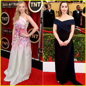 Natalie Dormer & Emilia Clarke Are Cute 'Game of Thrones' Girls at SAG Awards 2015