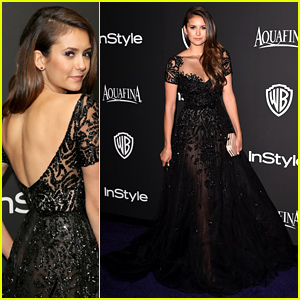 Nina Dobrev Is So Elegant at the InStyle Golden Globes Party 2015