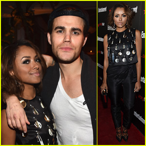 Paul Wesley Meets Up With Kat Graham at EW's SAG Party 2015