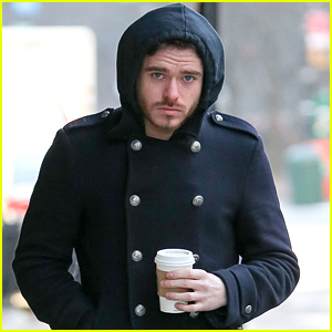 Cinderella's Richard Madden Makes Cold Coffee Run in NYC