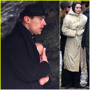 Theo James Cradles Fake Baby During Dramatic Scene in 'Secret Scripture'