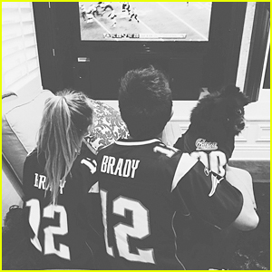 Sabrina Carpenter & Bradley Steven Perry Cheer On Patriots!