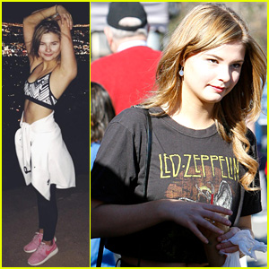 Stefanie Scott Shows Off Her Toned Midriff While Hiking Up to the Hollywood Sign