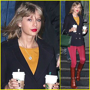 Taylor Swift Starts Her 2015 Bright & Early in NYC