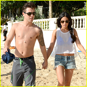 Union J's JJ Hamblett & Girlfriend Caterina Lopez Hit The Beach in Barbados