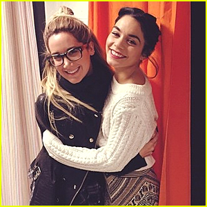 Ashley Tisdale Visits Vanessa Hudgens For 'Gigi' in Washington DC - See The Cute Pic!