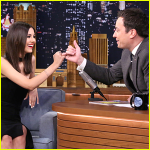 Victoria Justice Pinky Swears On 'Tonight Show'