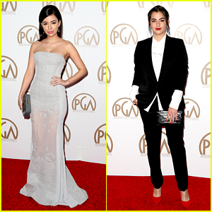 Christian Serratos & Alanna Masterson Represent 'Walking Dead' at PGA Awards 2015