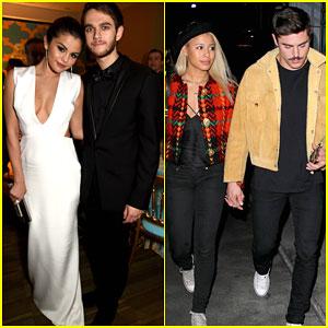 Selena Gomez & Zedd Grabbed Dinner with Zac Efron & Sami Miro in Atlanta!