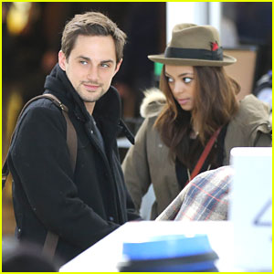 Amber Stevens Heads To Indianapolis With Husband Andrew J. West