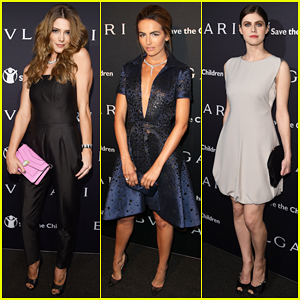 Ashley Greene & Camilla Belle Step Out for Charity at Bvlgari Pre-Oscar Party!