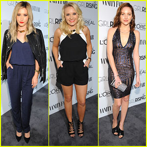 Ashley Tisdale & Emily Osment Are 'Young & Hungry' & Hot at Vanity Fair's Pre-Oscar Party