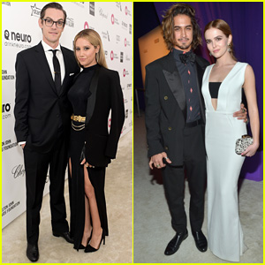 Ashley Tisdale & Zoey Deutch Bring Their Handsome Dates to Elton John's Oscar Party 2015