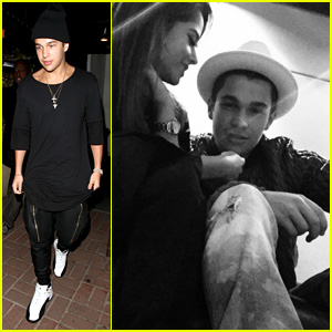 Austin Mahone Hits the Studio with Becky G!