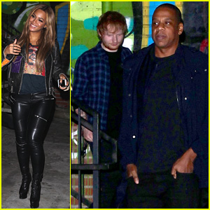 Ed Sheeran Casually Dines with Beyonce & Jay Z, No Big Deal