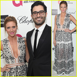 Brittany Snow & Tyler Hoechlin Bring Their Romance to the Oscars After-Parties!