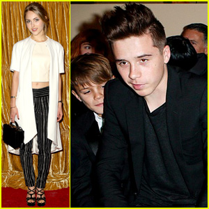 Brooklyn Beckham Sits Front Row at Mom Victoria's NYFW Show!