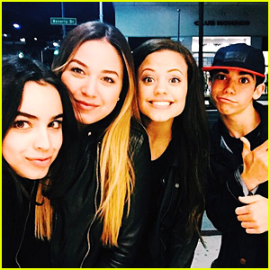 Sofia Carson Has 'Descendants' Reunion After Catching Up With Sabrina Carpenter