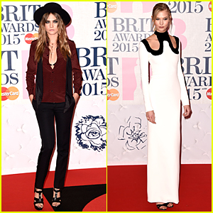Cara Delevingne & Karlie Kloss Bring Their Supermodel Looks to BRIT Awards 2015