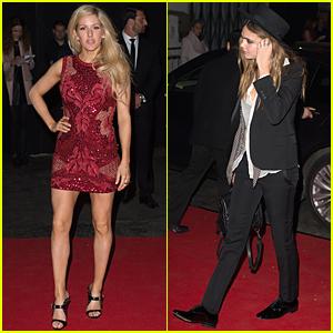 Ellie Goulding & Cara Delevingne Change Outfits at BRIT Awards 2015 After Party