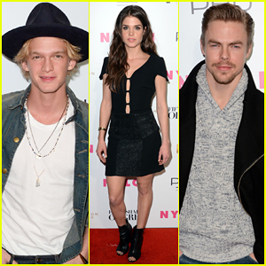 Cody Simpson & Derek Hough Kick Off Fashion Week at 'Fifty Shades' Release Party!