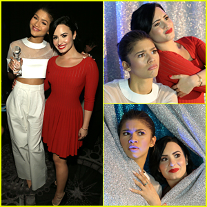 Demi Lovato & Zendaya Take Silly Backstage Pics at unite4:humanity Gala