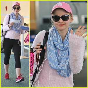 Dove Cameron's Cute & Cozy Airport Style Is The Best Thing