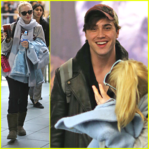 Dove Cameron & Ryan McCartan Head Back To Vancouver With Katherine McNamara