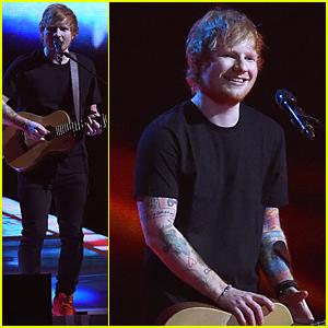 Ed Sheeran Sings 'Bloodstream' & Wins Two Awards at BRITs 2015