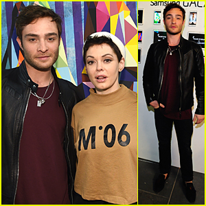 Ed Westwick Is the Coolest Guy at Pieces of Heaven Art Auction